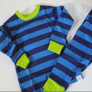 Baby Gap Blue Striped Pajama Set Long-Sleeves